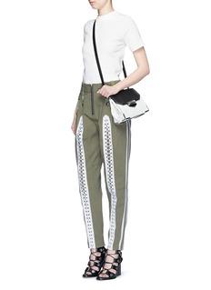 ALEXANDER WANG Flightsuit lacing cotton twill pants