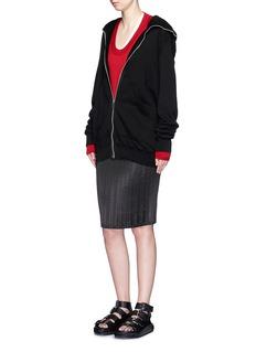 ALEXANDER WANG High-low hem wool sweater
