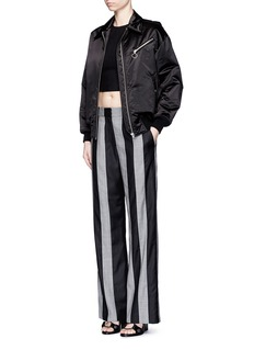 ALEXANDER WANG  Micro houndstooth stripe wool pants