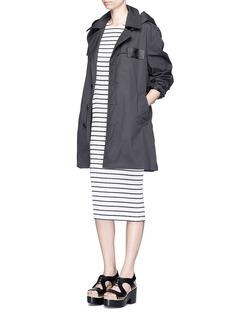 ALEXANDER WANG Sailor stripe plissé pleat tank dress