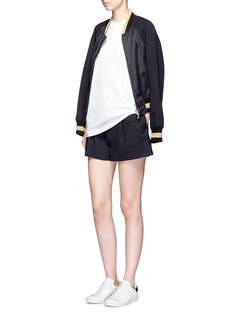 3.1 Phillip Lim Cotton blend pleated shorts
