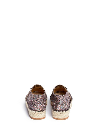 Back View - Click To Enlarge - Chiara Ferragni - 'Flirting' eye wink appliqué glitter espadrilles
