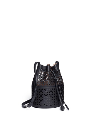 Alaïa - 'Petale' lasercut matte leather bucket bag