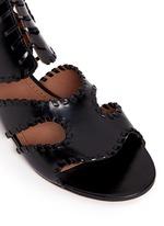 Whipstitch leather gladiator sandals