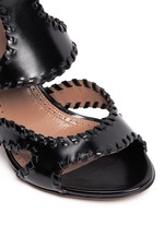 Whipstitch leather sandals