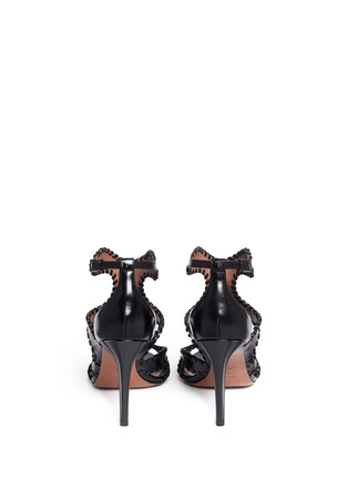 Back View - Click To Enlarge - Alaïa - Whipstitch leather sandals