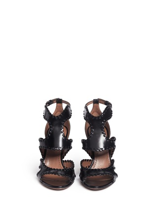 Front View - Click To Enlarge - Alaïa - Whipstitch leather sandals