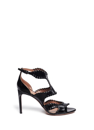 Main View - Click To Enlarge - Alaïa - Whipstitch leather sandals