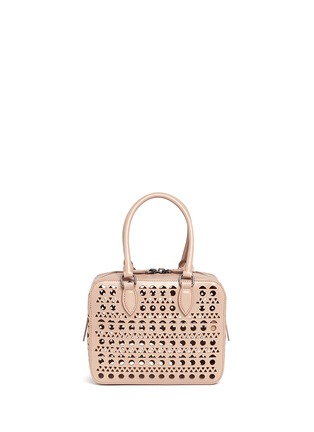 Back View - Click To Enlarge - Alaïa - 'Vienne' lasercut leather crossbody bag