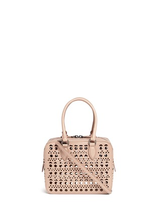 Main View - Click To Enlarge - Alaïa - 'Vienne' lasercut leather crossbody bag