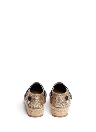 Back View - Click To Enlarge - Chiara Ferragni - 'Natalie' eye wink appliqué glitter espadrilles