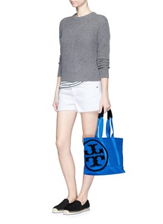 TORY BURCH 'Penn' quilted small zip tote
