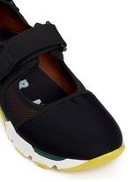 strap mesh techno fabric sneakers