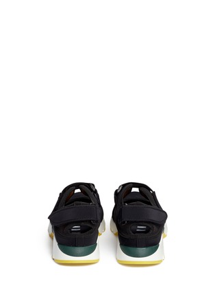 Back View - Click To Enlarge - Marni - strap mesh techno fabric sneakers