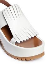 'Zeppa' kiltie flap leather platform wedge sandals