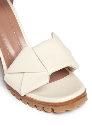 Detail View - Click To Enlarge - Marni - Origami bow lug sole leather sandals