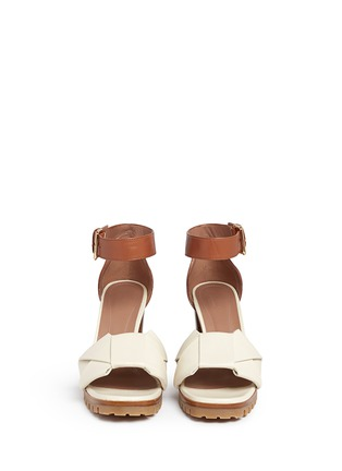 Front View - Click To Enlarge - Marni - Origami bow lug sole leather sandals