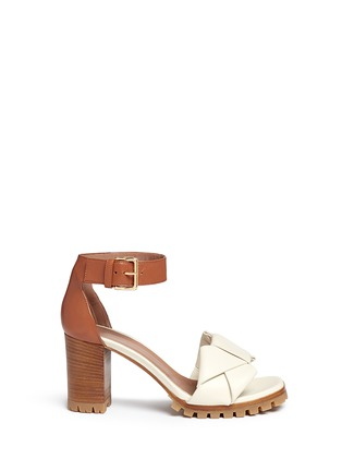 Main View - Click To Enlarge - Marni - Origami bow lug sole leather sandals