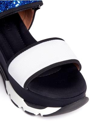 细节 - 点击放大 - MARNI - 网眼亮片搭带厚底凉鞋