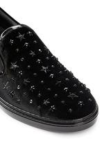 'Grove' star stud velvet skate slip-ons