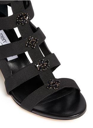 细节 - 点击放大 - JIMMY CHOO - MYRIAD仿水晶装饰罗马高跟凉鞋