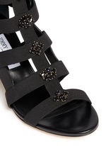 'Myriad 65' jewelled elastic gladiator sandals