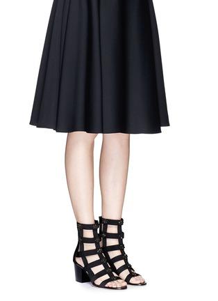 模特儿示范图 - 点击放大 - JIMMY CHOO - MYRIAD仿水晶装饰罗马高跟凉鞋