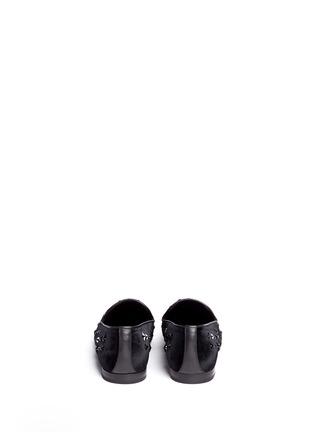 Back View - Click To Enlarge - Jimmy Choo - 'Sloane' star stud velvet slip-ons