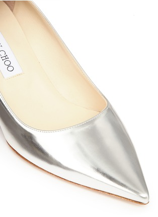 Detail View - Click To Enlarge - Jimmy Choo - 'Aza' mirror leather pumps