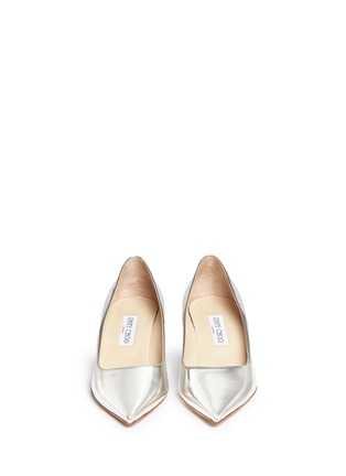 Front View - Click To Enlarge - Jimmy Choo - 'Aza' mirror leather pumps