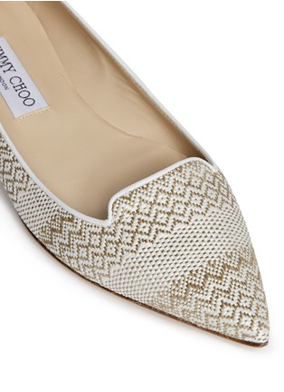Detail View - Click To Enlarge - Jimmy Choo - 'Attila' woven skimmer flats