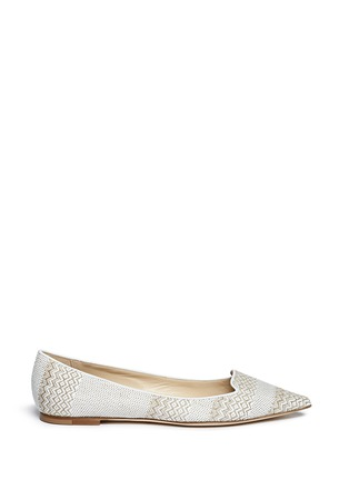 Main View - Click To Enlarge - Jimmy Choo - 'Attila' woven skimmer flats