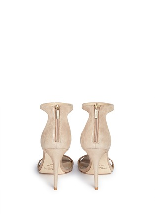 Back View - Click To Enlarge - Jimmy Choo - 'Viola' tassel shimmer suede sandals
