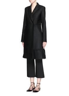 VICTORIA BECKHAM'Tassel' wool felt coat