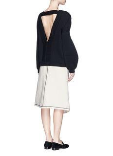 VICTORIA BECKHAMOversize sleeve rib knit sweater