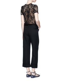 VICTORIA BECKHAM Corded floral lace T-shirt