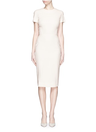 Detail View - Click To Enlarge - Victoria Beckham - Belted silk-wool double crepe dress
