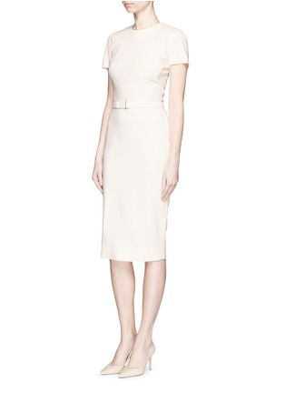 Front View - Click To Enlarge - Victoria Beckham - Belted silk-wool double crepe dress