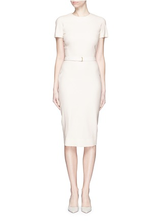 Main View - Click To Enlarge - Victoria Beckham - Belted silk-wool double crepe dress