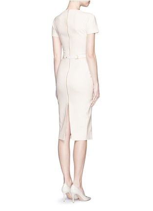 Figure View - Click To Enlarge - Victoria Beckham - Belted silk-wool double crepe dress