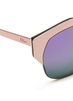 细节 - 点击放大 - DIOR - 金属半框反光太阳眼镜