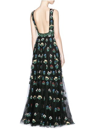 Figure View - Click To Enlarge - Valentino - 'Primavera' floral embroidery tulle gown