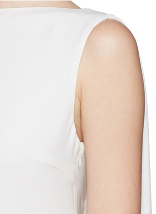 Detail View - Click To Enlarge - Valentino - Cape back silk cady gown