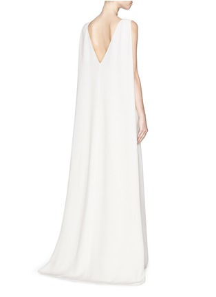 Back View - Click To Enlarge - Valentino - Cape back silk cady gown