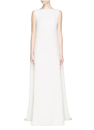 Main View - Click To Enlarge - Valentino - Cape back silk cady gown