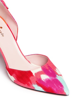 Detail View - Click To Enlarge - Kate Spade - 'Peggy' paint streak d'Orsay bow pumps