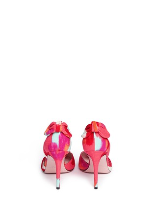 Back View - Click To Enlarge - Kate Spade - 'Peggy' paint streak d'Orsay bow pumps