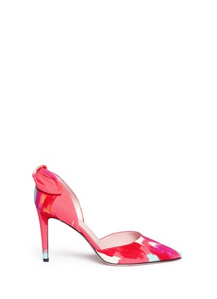 Main View - Click To Enlarge - Kate Spade - 'Peggy' paint streak d'Orsay bow pumps