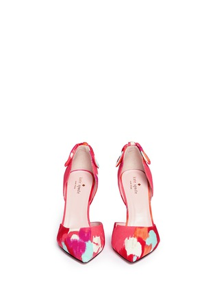 Figure View - Click To Enlarge - Kate Spade - 'Peggy' paint streak d'Orsay bow pumps