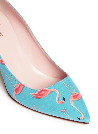 Detail View - Click To Enlarge - Kate Spade - 'Jessa' flamingo print pumps